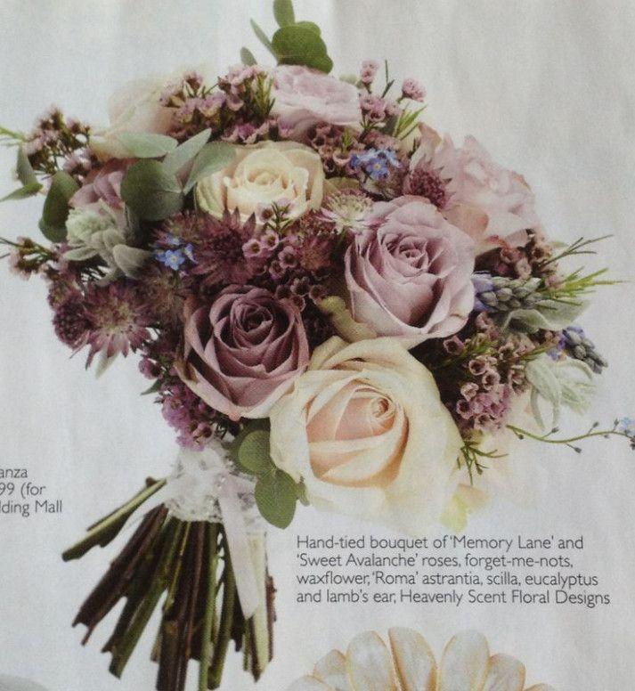 Wedding Bouquets Mauve Color Palettes