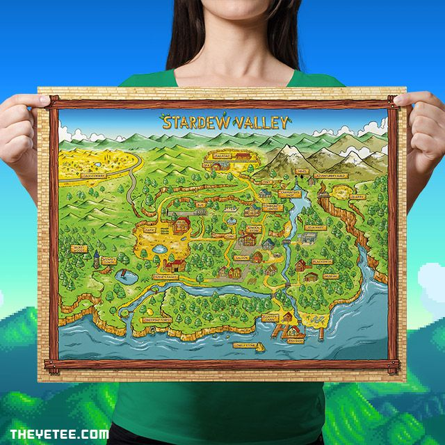Stardew Valley Map By Adam at The Yetee!