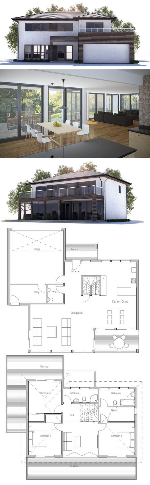 Modern Home with open planning three bedrooms