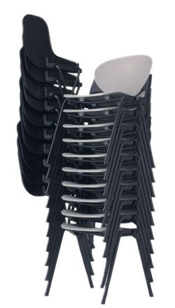 Stack 3.0 Stacking Chair (safely Stackable With Or Without The P Shaped  Tablet Arms