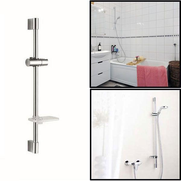 Bathroom Shower Head Lifting Rod Set with Soap Dish And Shower Head Holder #ShowerHeads