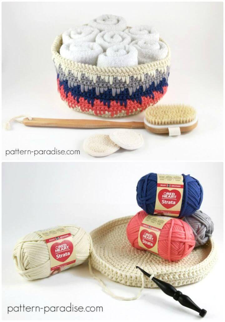 How To Crochet Himalayan Basket – Free Pattern - 45 Free Crochet Basket Patterns for Beginners - DIY & Crafts