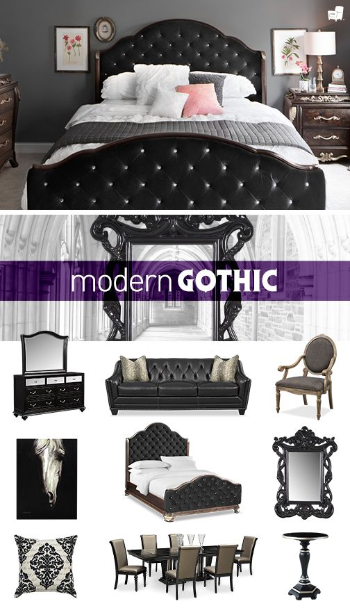 Add a touch of gothic to your glam in the bedroom living room or dining room with our modern gothic collection only from value city furniture