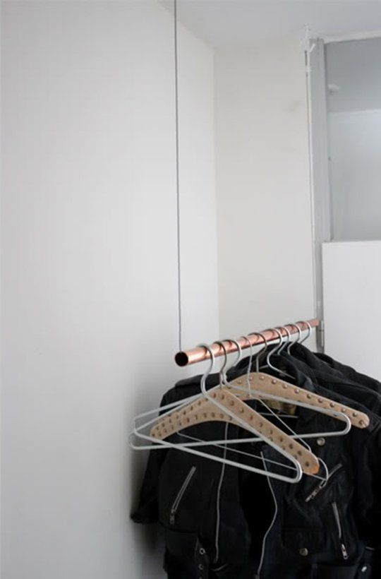 16 best images about pipe wardrobe on pinterest clothes for Furniture to hang clothes