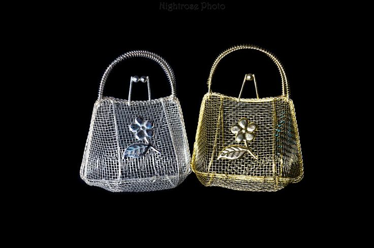 Gold and Silver Metal Handbags