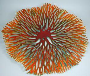 Kiln Formed Glass Wall Sculpture by Austin Artist Glenda Kronke
