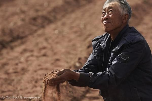 Dried Out Farmland in Inner Mongolia. 06/10/2013 © Qiu Bo / Greenpeace
