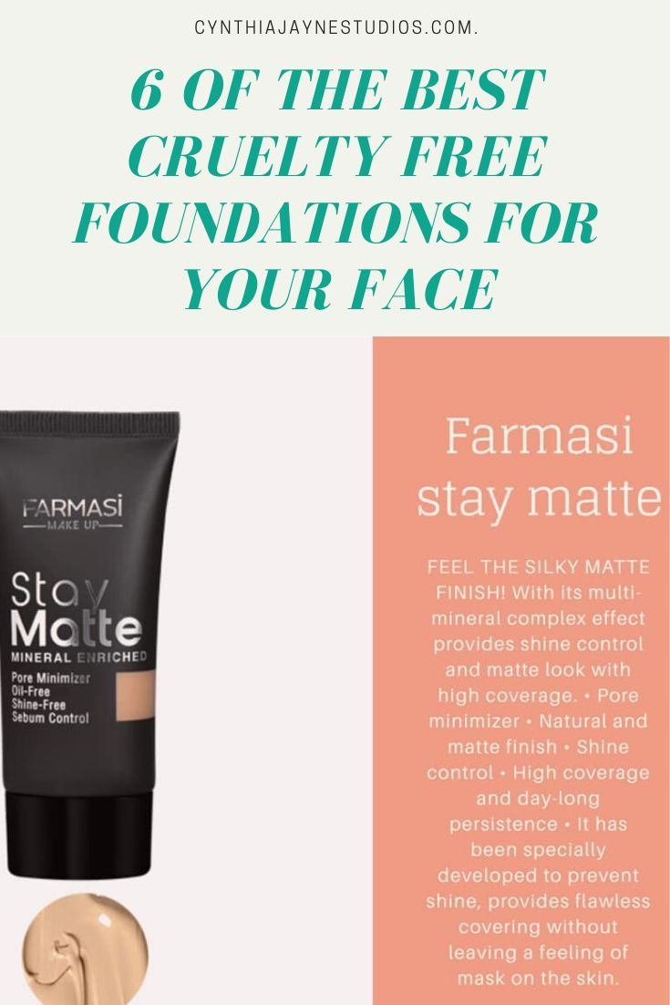 6 of the best cruelty free foundations for your face