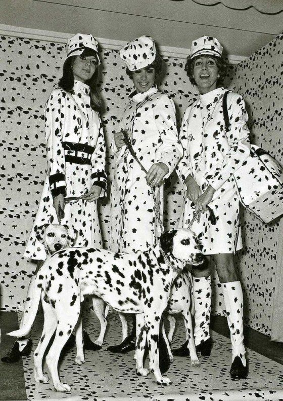 vintage everyday: Dalmation Fashion, 1967 Doesn't this make you think of 101 Dalmatians?