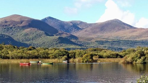 Lough Leanne - The serene Lough Leanne with The Purple Mountains towards The Gap of Dunloe in the background. Lough Leane (from Irish Loch Léin, meaning the lake of learning) is largest of the three lakes of Killarney. Picture by tour driver/guide Liam Ryan.