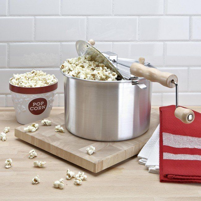 World famous - the Original Whirley PopTM Stovetop Popcorn Popper! Just add a little oil and heat on your stovetop for delicious popcorn in minutes.
