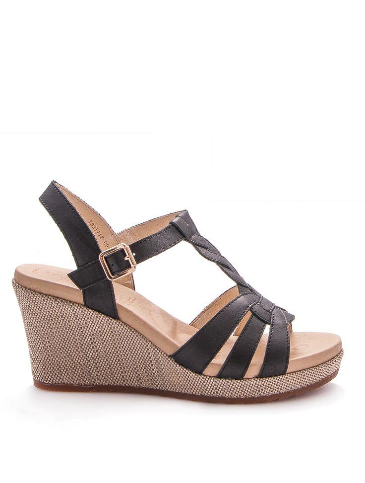 Sandalia de piel con plantilla de reflexología - Leather sandal 5 zones