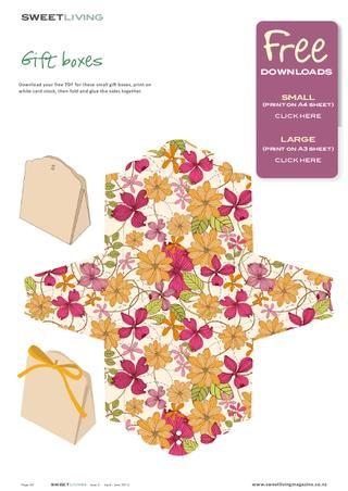 Sweet Living magazine gift box printable