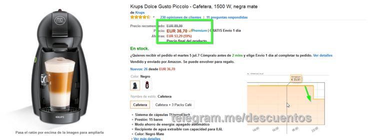 Cafetera Nescafé Dolce Gusto sólo 36 - http://ift.tt/29eP0Zl