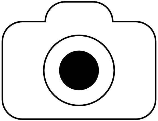 Fotocamera Foto Camera Icon Black White Line Art Coloring