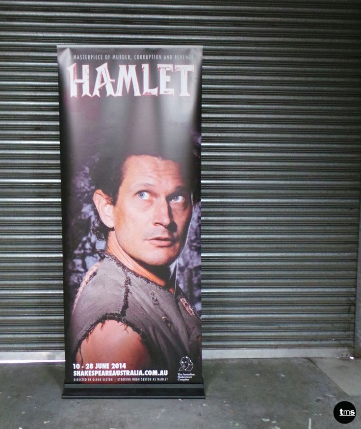 Hamlet, Pull Up Banner, Temporary Advertising, The Australian Shakespeare Company