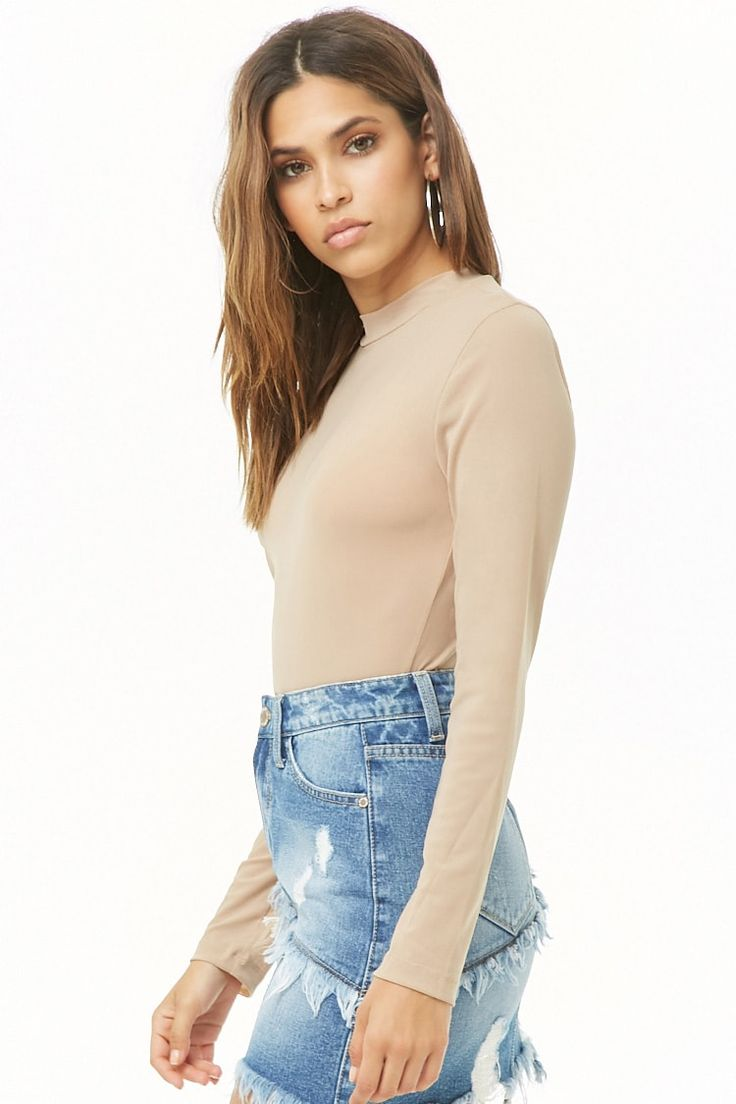 Sheer Mock Neck Bodysuit #Affiliate , #AD, #Mock, #Sheer, #Bodysuit, #Neck 1