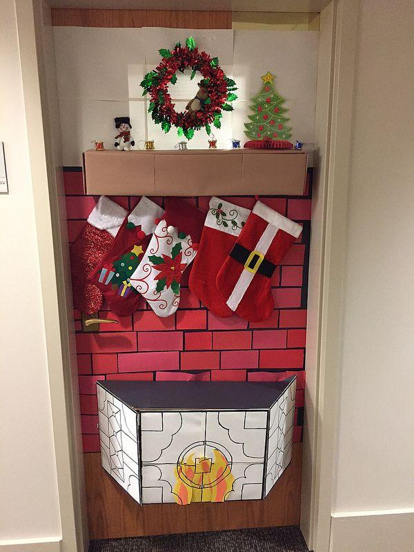 2014 UC Door Number 4 Hearth and home! Perfection! & 16 best UC Holiday Doors images on Pinterest | Door numbers Fiesta ...