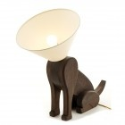 Sitting Dog Lamp with Collar of Shame - bless!
