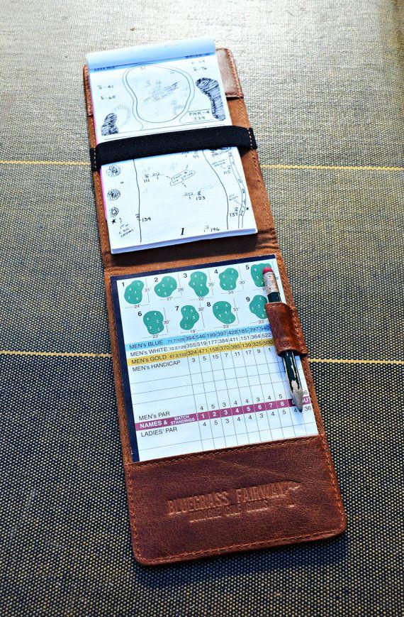 Handmade Leather Golf Scorecard Holder / by BluegrassFairway
