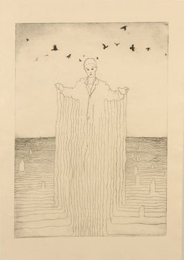 "Saatchi Art Artist Gavin Porter; Printmaking, ""come back quen "" #art"