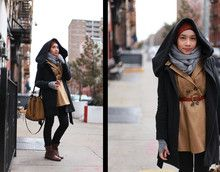 Cold weather hijab style.