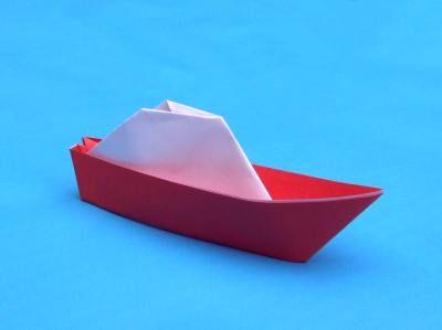 een bootje van papier