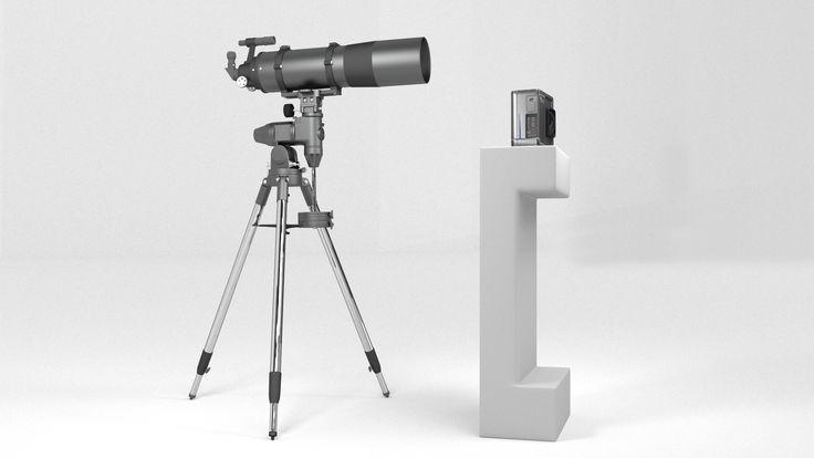 Traditional Telescope vs. Blade Optics Telescope. Design Rendering. Actual…