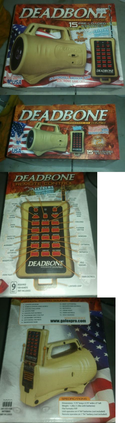 Game Calls 36252: Deadbone Foxpro Electronic Game Caller Model Db1 2 Sound At Once BUY IT NOW ONLY: $86.39