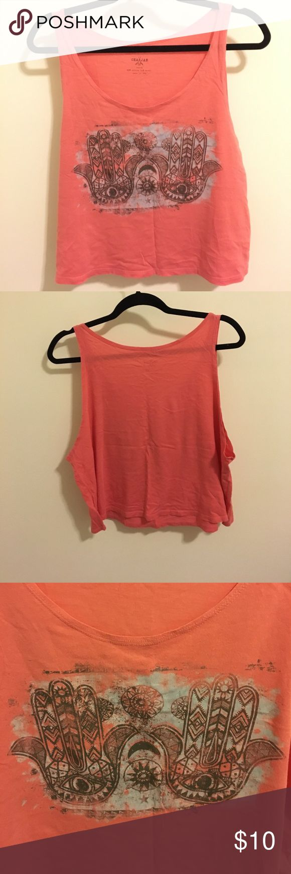 Urban Outfitters Cea Jae Hamsa Tank No longer available from original retailer. Very cute with a sweater and leggings! Urban Outfitters Tops Tank Tops