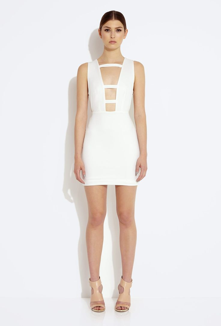 AQ AQ Leah Mini Dress with High Neck and Low Back   Mini
