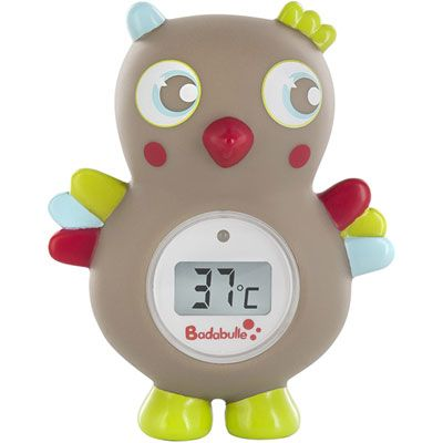 Badabulle Thermomètre de bain bébé digital hibou