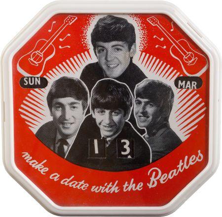 Beatles Perpetual Tabletop Calendar (UK Circa 1963)