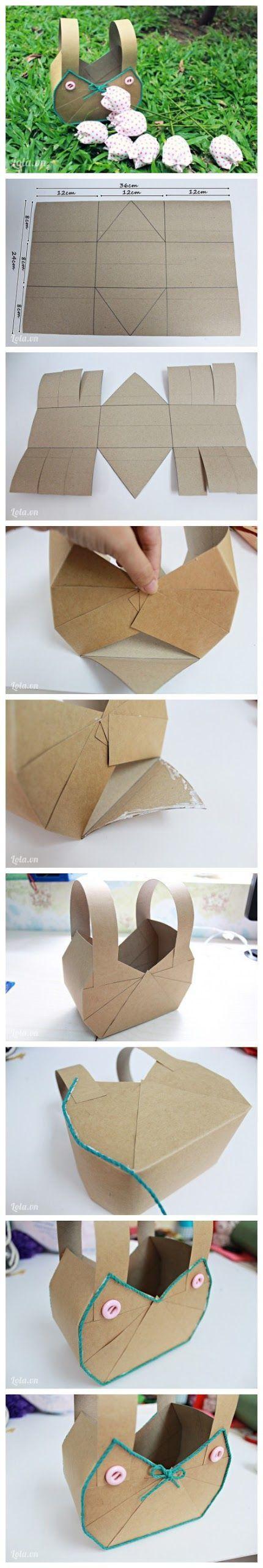 * Easy Way To Make Paper Basket