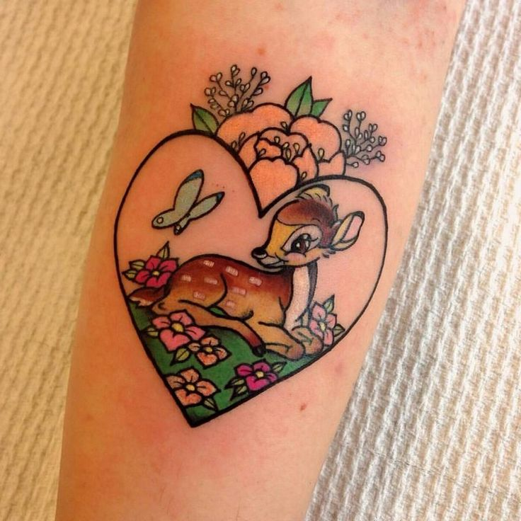 20+ Cute Bambi Tattoo Inspirations