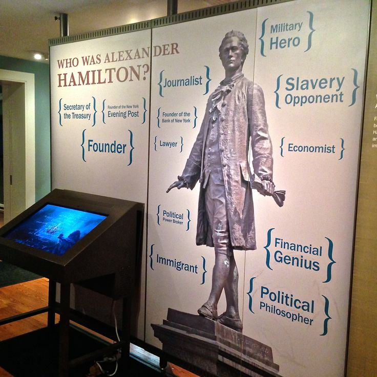 Alexander Hamilton was quite accomplished. He was a military hero, a respected lawyer, Secretary of the Treasury, and he founded the New-York Evening Post.