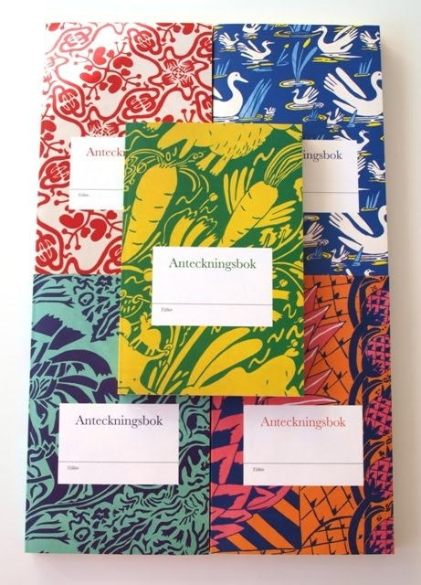 Note books with patterns from Carl Johan de geer