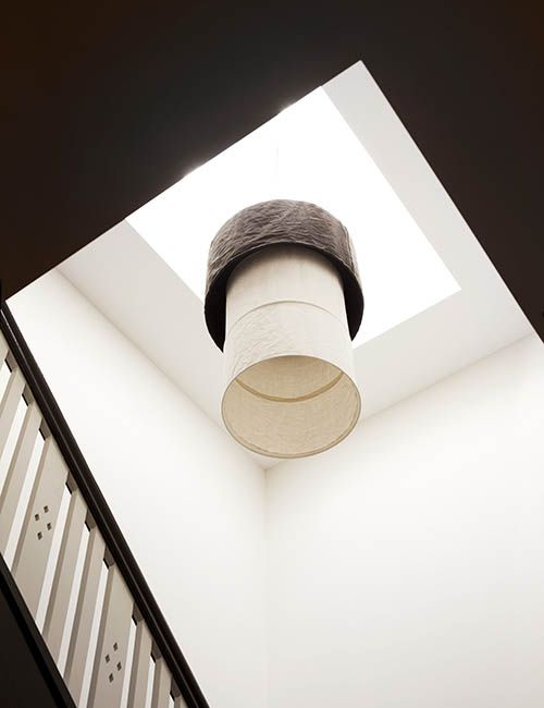 BALMAIN WHARF APARTMENTS | alwill  #pendant #neutral #staircase #skylight