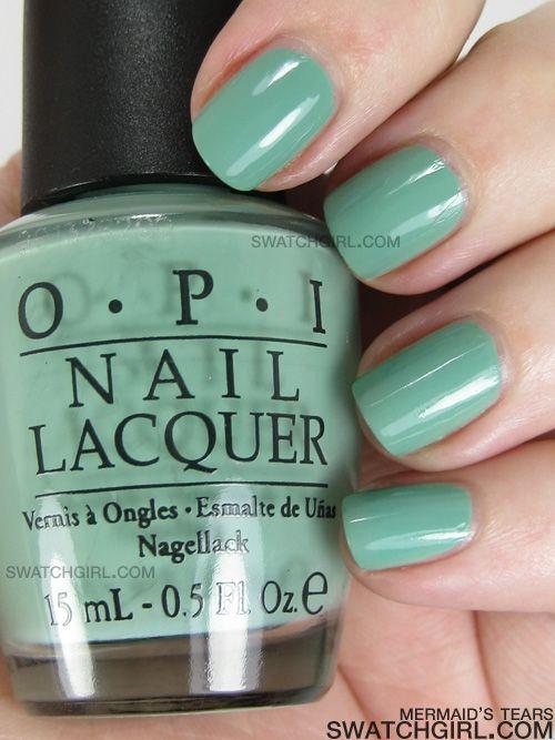 .: Mermaids Tear, Nailpolish, Nails Color, Bianchi Celest, Opi Nails, Opi Mermaids, Hairstyles Makeup Nails, Blue Nails, Nails Polish Color