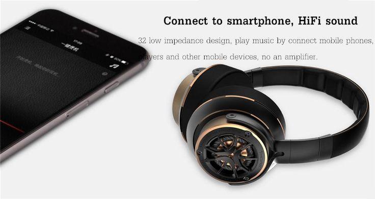 Original 1MORE H1707 Triple Drivers HIFI Stereo Bass Music Hollow Design Over-ear Headphone Headset