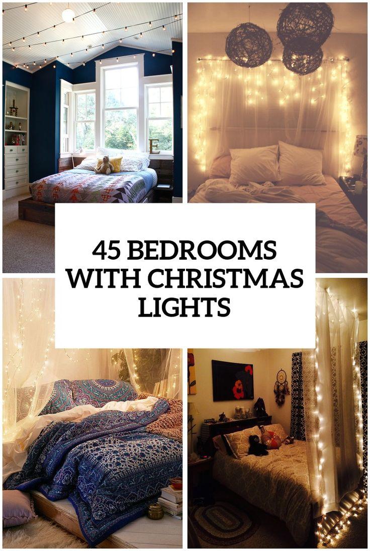 Best Christmas Lights In Bedroom Ideas On Pinterest - Christmas light bedroom decor