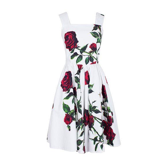 Red Rose Party Dress - Custom Sizing - Get Go Retro  - 1