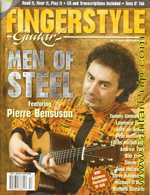 #57 Fingerstyle Guitar Magazine Back-Issue with CD – Men of Steel featuring Pierre Bensusan