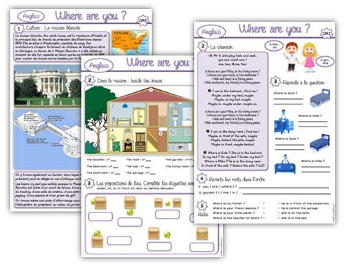 S quence where are you cycles 2 et 3 anglais pinterest for Apprendre les objets de la maison