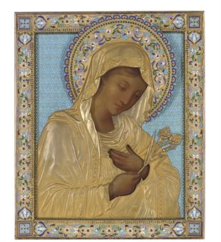 Russian St Mary Magdalene.  Gorgeous silver gilt detail.
