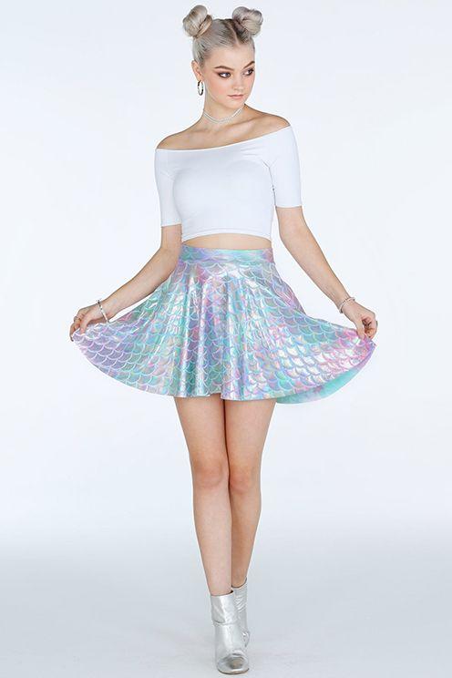 Mermaid Pastel Pocket Skater Skirt- Limited (A$65)