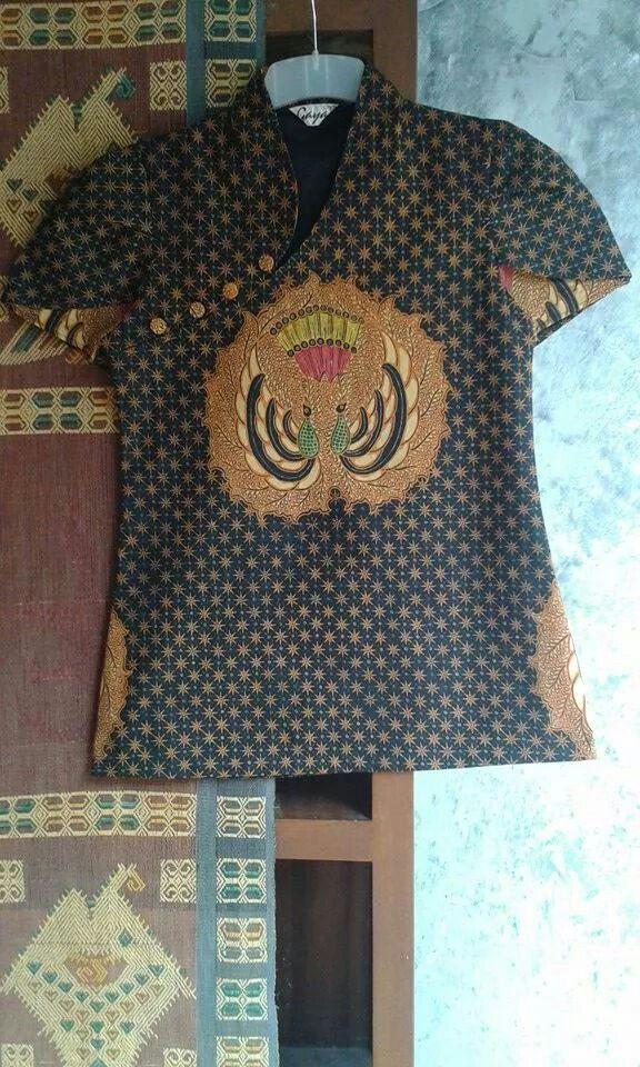 Batik cheongsam blouse