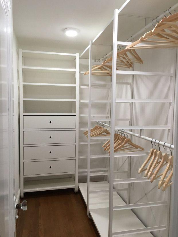 Ikea Elvarli In Corner Walk In Closet Closet Projetos Begehbarer Kleiderschrank Selber Bauen Schlafzimmer Schrank Ideen Begehbarer Kleiderschrank Dachschrage