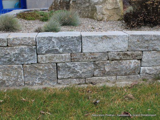 New Muschelkalk System Mauersteine getrommelt Naturstein Pindrys Sandstein u Granit Direktimport G NSTIGE PREISE