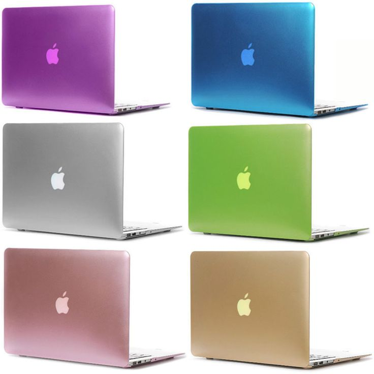 Newest Metal Colors Plastic Matte Case Cover for Macbook Air Retina Pro 11 12 13 15 Inch Laptop Bag Case for Macbook Pro Air 13